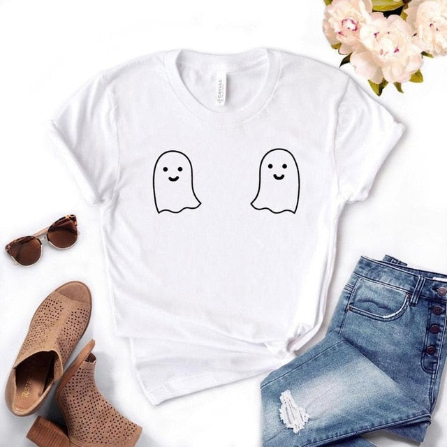 Cute Ghost Tits Women Tshirt Available in 3 colours