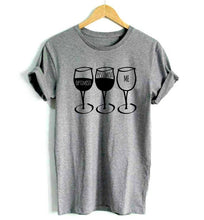 Load image into Gallery viewer, Wine Goblet Pessimist Casual Tshirt. Available in 3 Colours