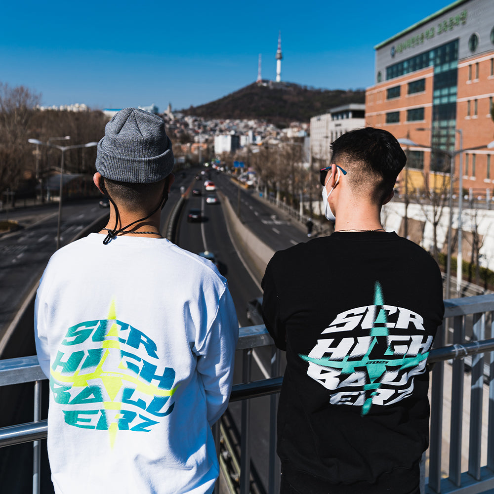 SCR Sweatshirts White - Limited Edition Highballerz