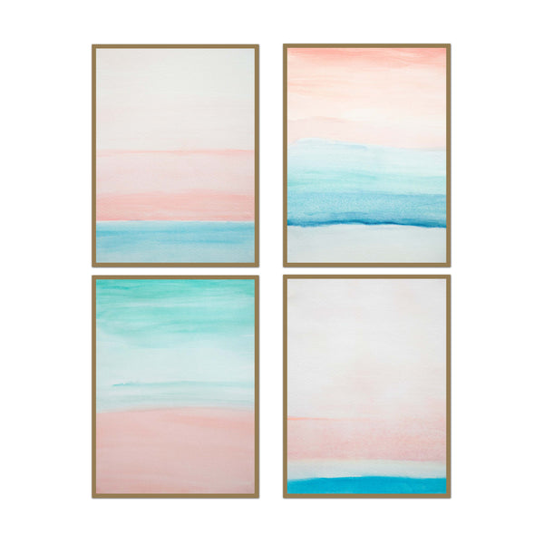 Hues of Pink Set of 4