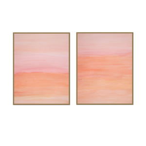 Pink Sunset Watercolor Pair