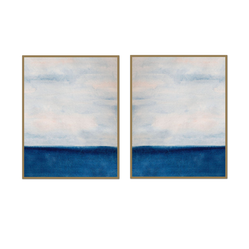 Into the Blue Watercolor Pair