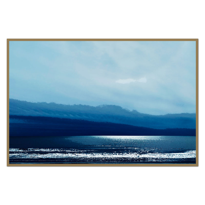 Blue Stormy Beach