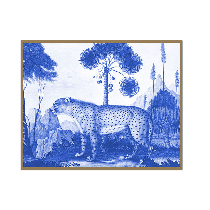 Vintage Leopard Drawing