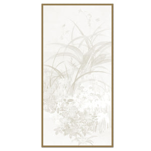 Vintage Flowers in the Reeds Panel