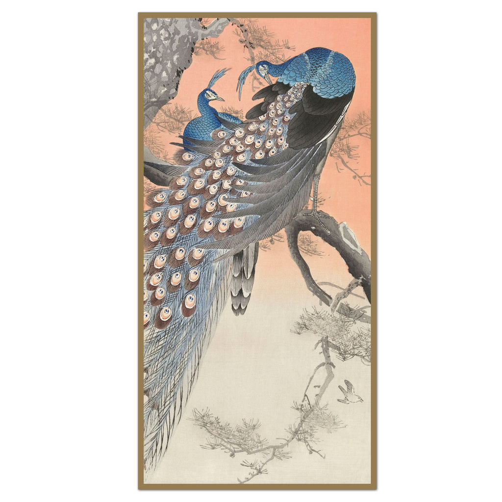 Sunset Peacock Panel Single