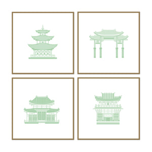 Pretty Pagoda Set of 4