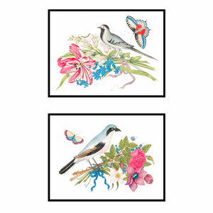 Bird & Bouquet Pair No. 1