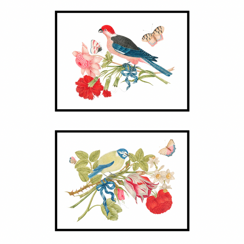 Bird & Bouquet Pair No. 2