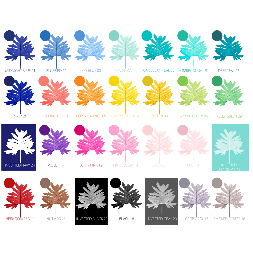 Botanical Color Chart Sample