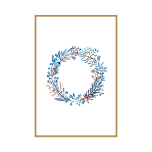 Blue & Tan Christmas Wreath