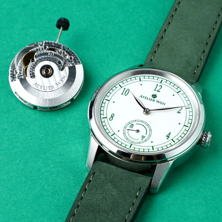 porcelain dial watch