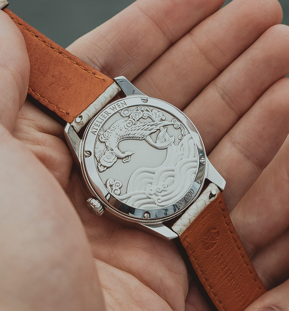 atelier wen watch porcelain odyssey Hao embossed solid case-back