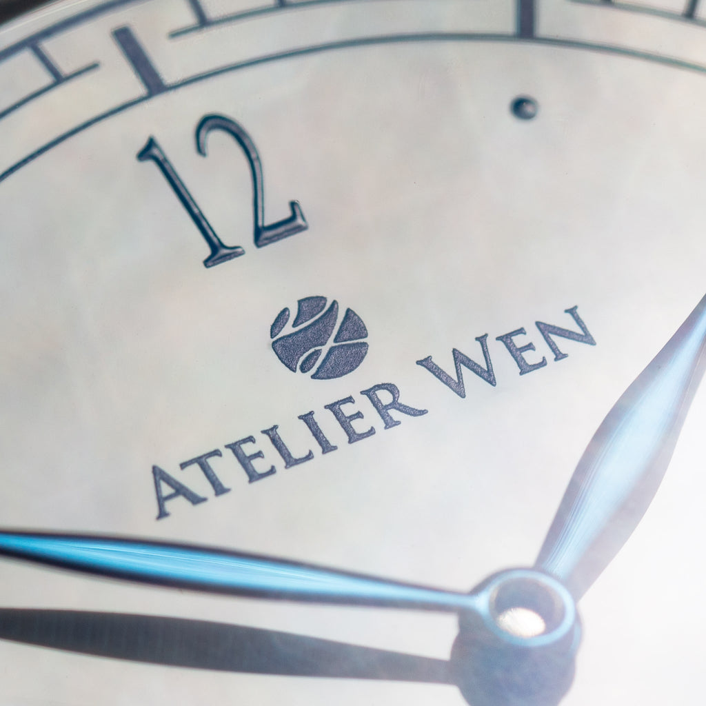 atelier wen watch porcelain odyssey Hao enamel dial close-up