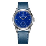 Atelier Wen Ji blue enamel dial classy dress watch frontal view