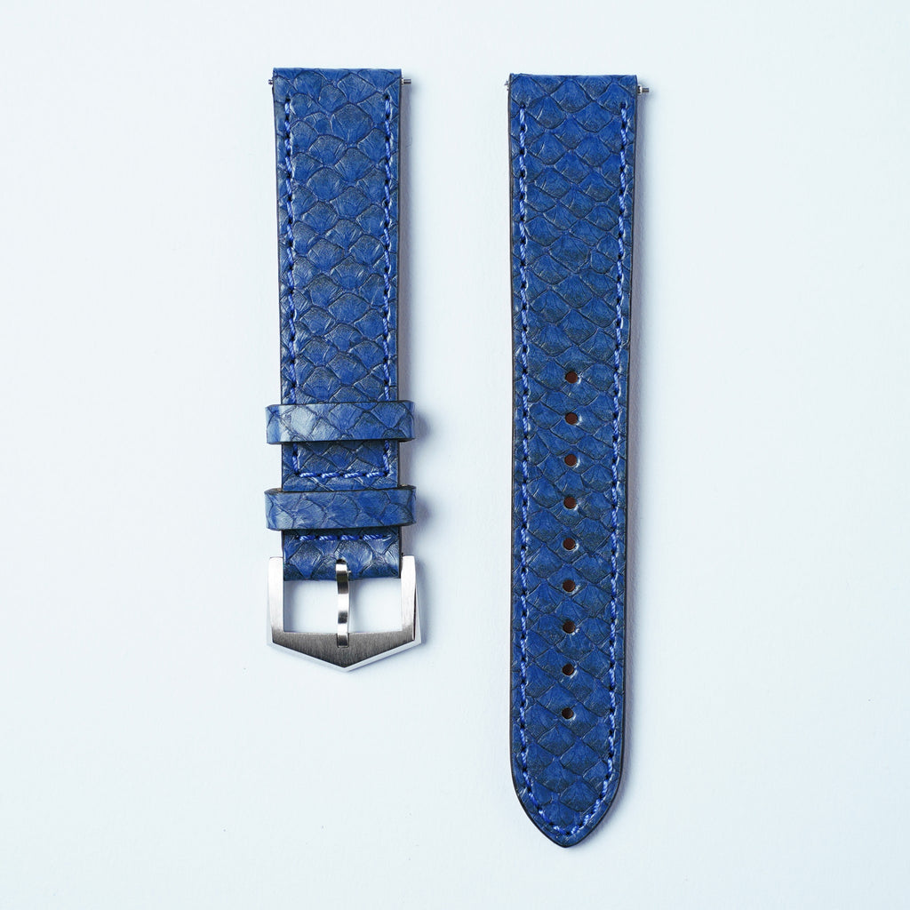 Purple Salmon Leather Straps