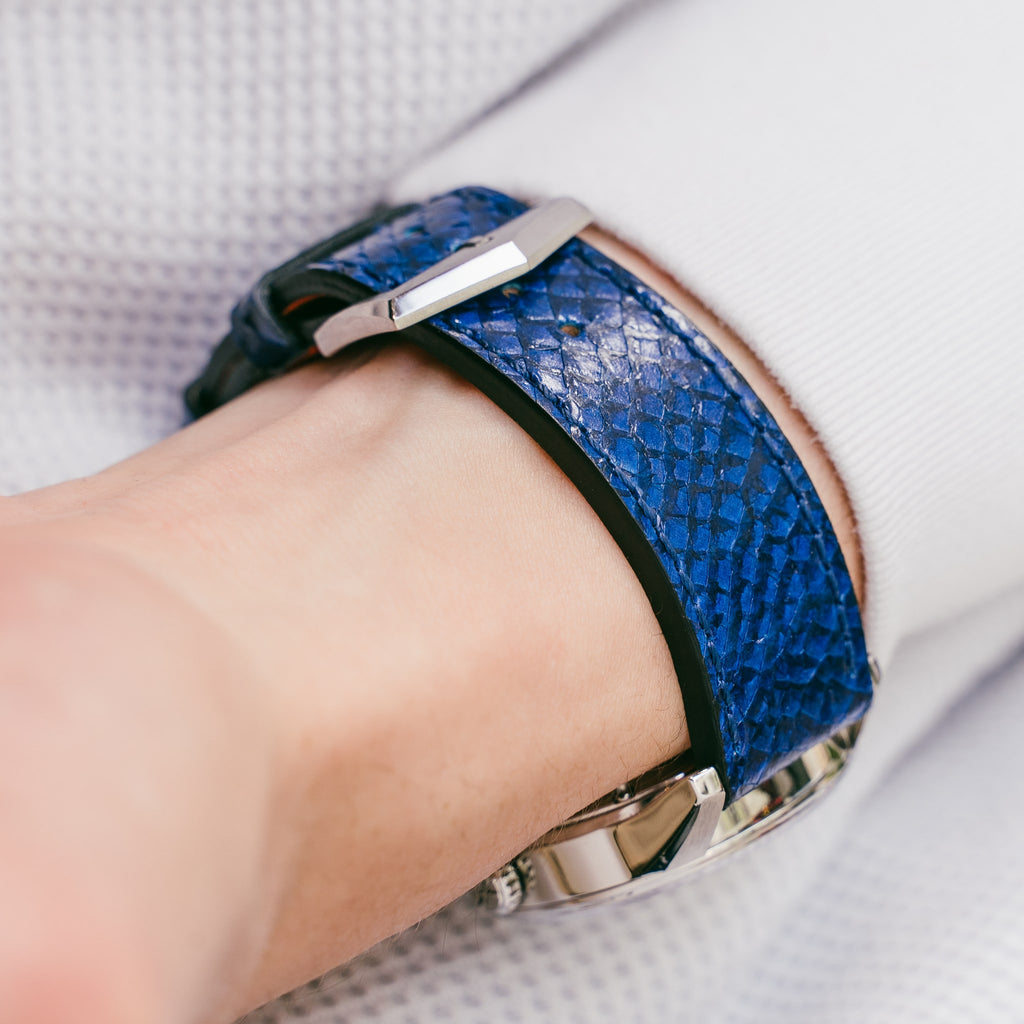 Blue Salmon Leather Straps