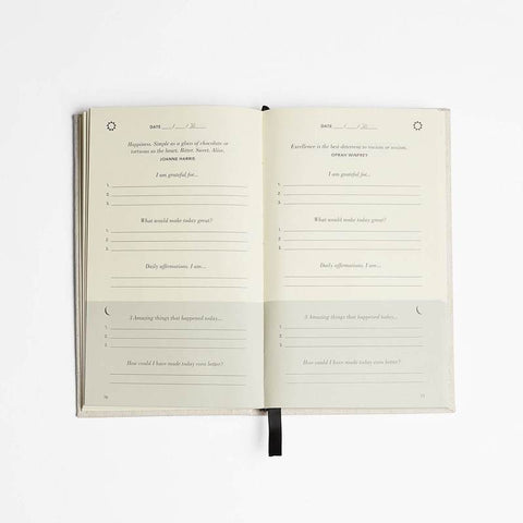 The Five Minute Journal by Intelligent Change. Stocked at The Spring