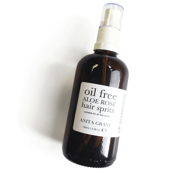 Anita Grant Aloe Rose Oil-Free Hair Spritz Leave-In Conditioning Spray 100ml The Spring Self Care Oasis London