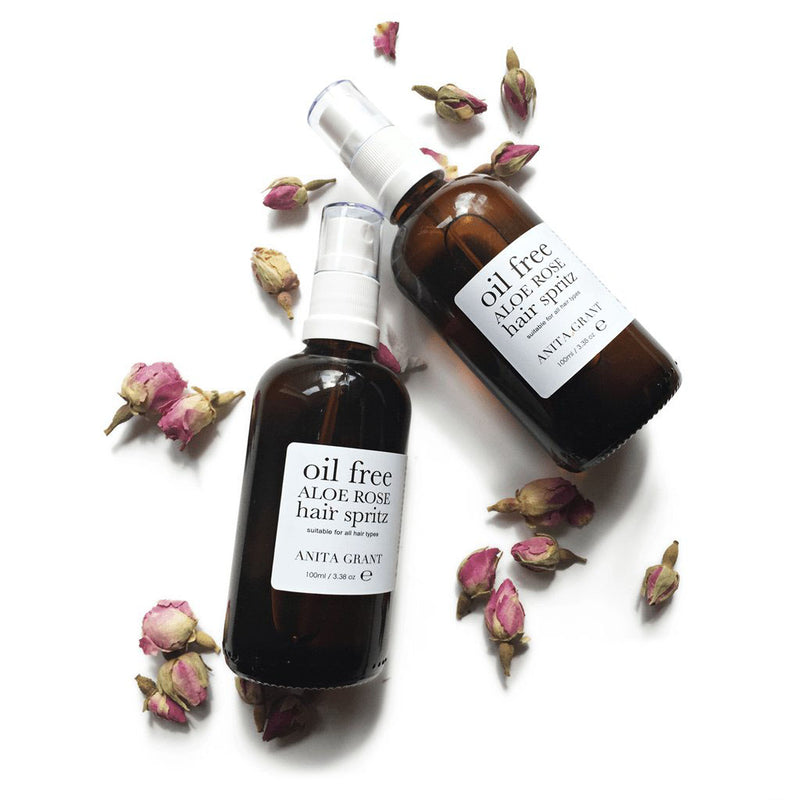 Anita Grant Aloe Rose Oil-Free Hair Spritz Leave-In Conditioning Spray roses The Spring