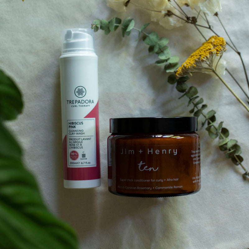 Trepadora Curl Therapy Hibiscus Pink Cleansing Clay Wash & Jim + Henry Ten duo set The Spring