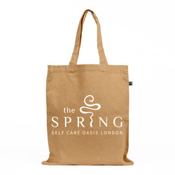 The Spring Self Care Oasis Farirtrade & Organic Cotton Canvas Tote Bag