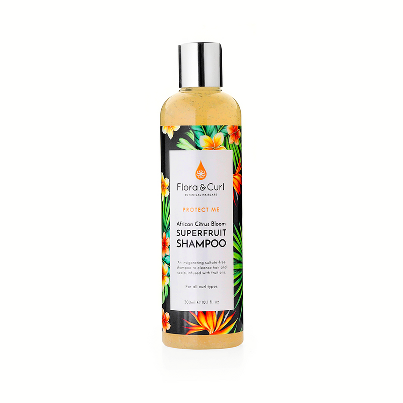 Flora and Curl African Citrus Superfruit Shampoo 300ml The Spring Self Care Oasis London
