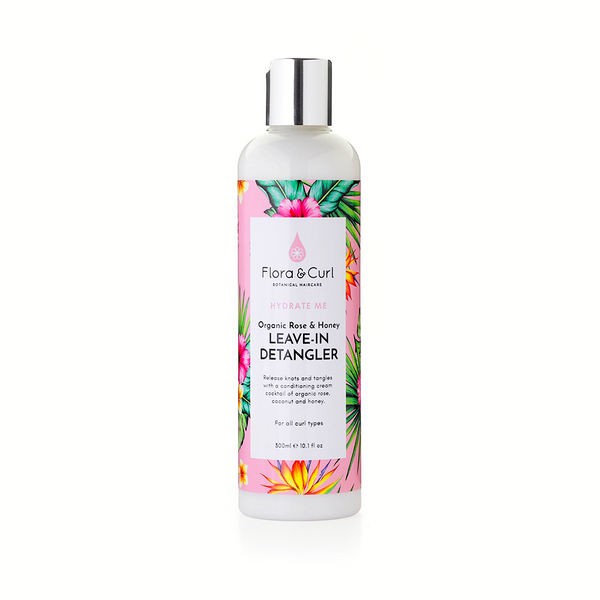 Flora and Curl Organic Rose & Honey Leave-in Detangler 300ml The Spring Self Care Oasis London