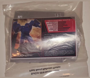 TRANSFORMERS BOTCON 2016 Flash Sentry TFCC Golden Ticket Exclusive Mint in bag