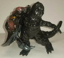 "Load image into Gallery viewer, Y-MSF Black Flying Hedorah with ""captured"" Godzilla 6 inch figures"