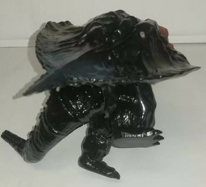 "Y-MSF Black Flying Hedorah with ""captured"" Godzilla 6 inch figures"