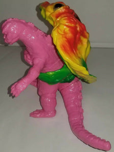 Y-MSF Rare Yellow Flying Hedorah & Pink Captured Godzilla figures from Japan