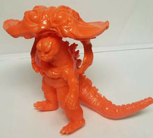 "Load image into Gallery viewer, Y-MSF Rare Orange Flying Hedorah 6 inch scale figure bonus ""captured"" Godzilla"