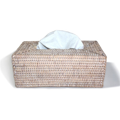 White Washed Rectangular Tissue Box