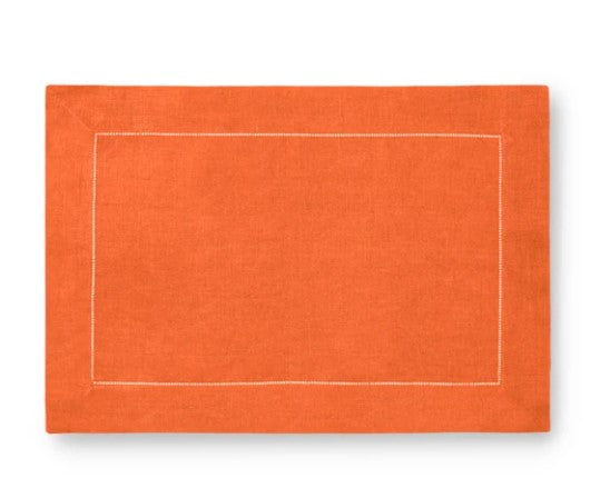 Festival Placemat Set in Tangerine