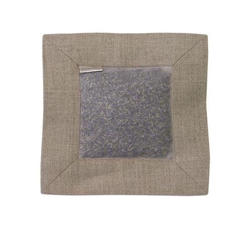 Lavender Scented Linen Square Sachet in Natural