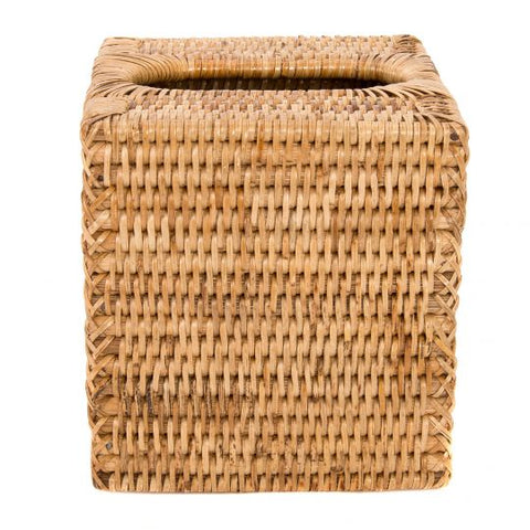 Rattan Column Tissue Box