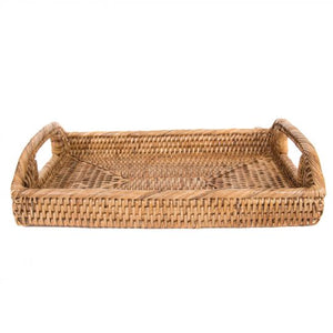 Rattan Rectangular Tray with Handles