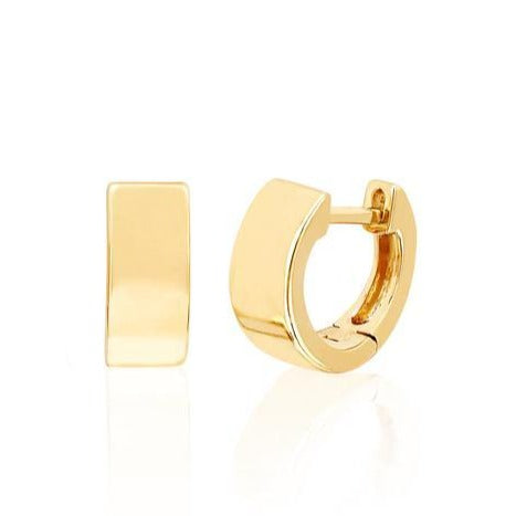 14k Jumbo Mini Huggie Earrings in Yellow Gold