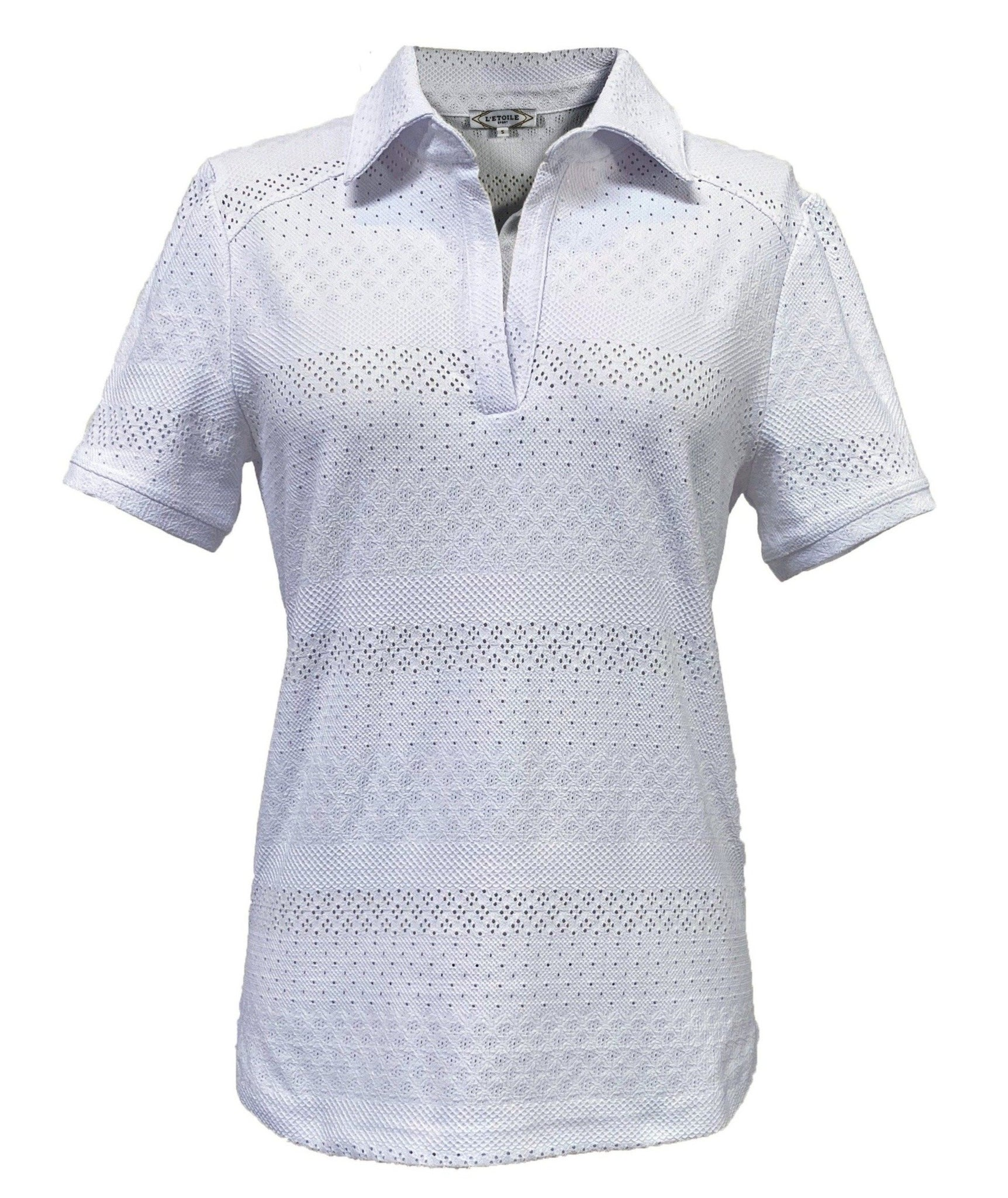 Lace Polo in White