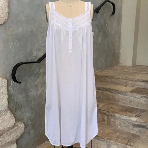 Joy Lace Panel Sleeveless Nightgown