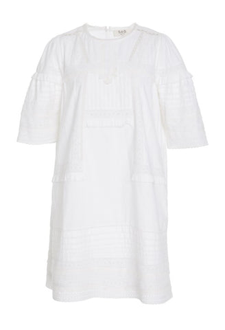 Lilli Eyelet Shift Dress in White FINAL SALE