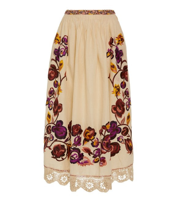 Yana Embroidered Skirt FINAL SALE
