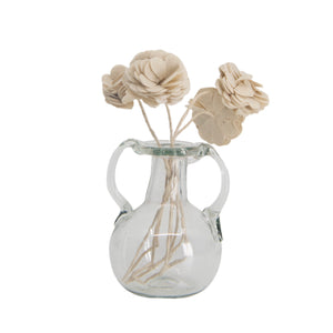 Bagno 2 Anses Vase in Clear Glass