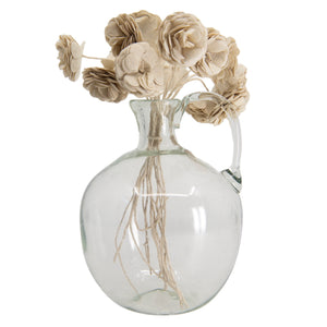 Jug Roi Vase in Clear Glass