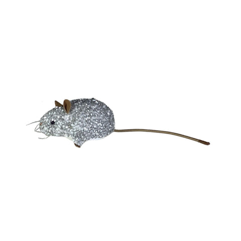 Luxus Beaded Velvet Mouse in Ivory