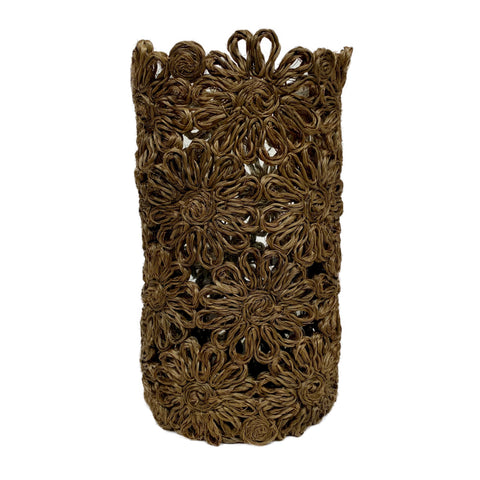 Flower Basket Vase in Natural