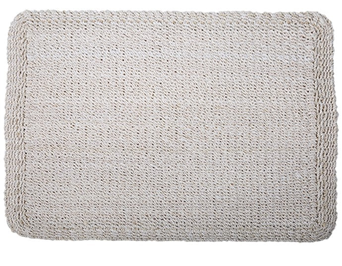 Interwoven Rush Placemat in White