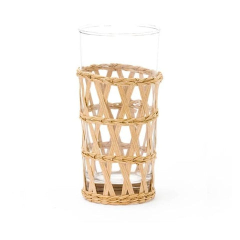 Natural Seagrass Wrapped Ice Tea Glass