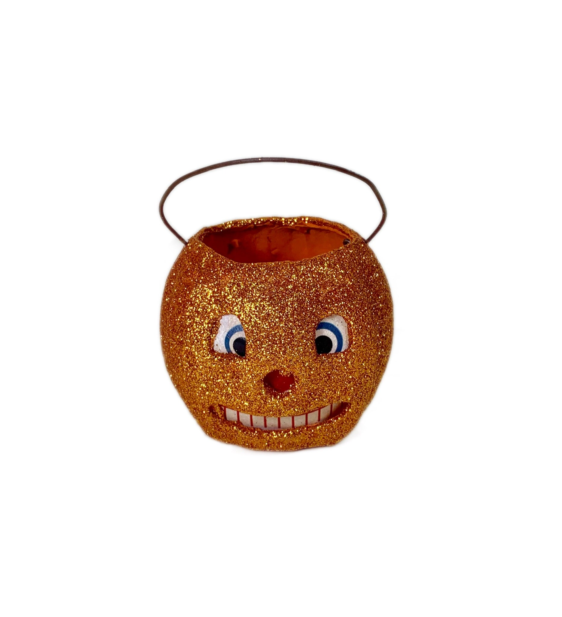 Mini Pumpkin Glittered Bucket